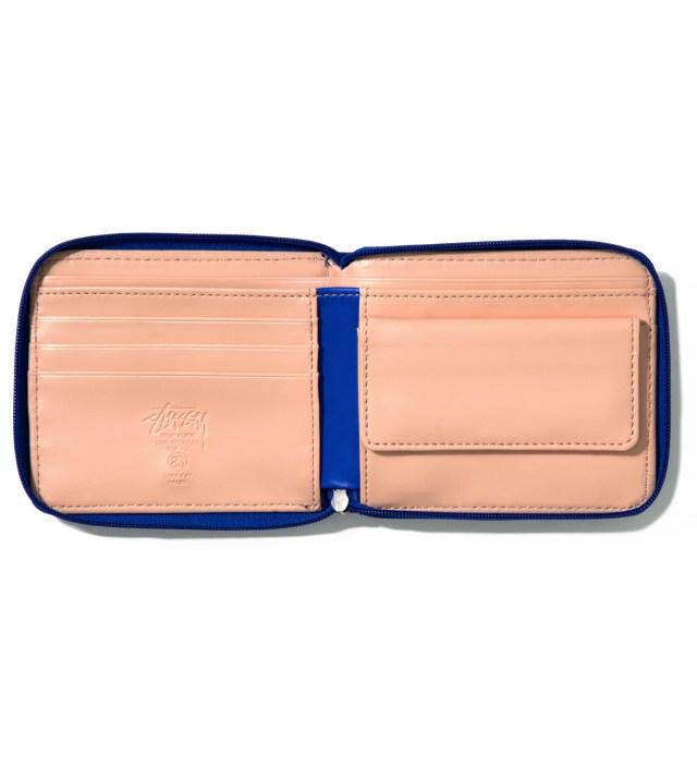 Blue Super Solid Zip Wallet