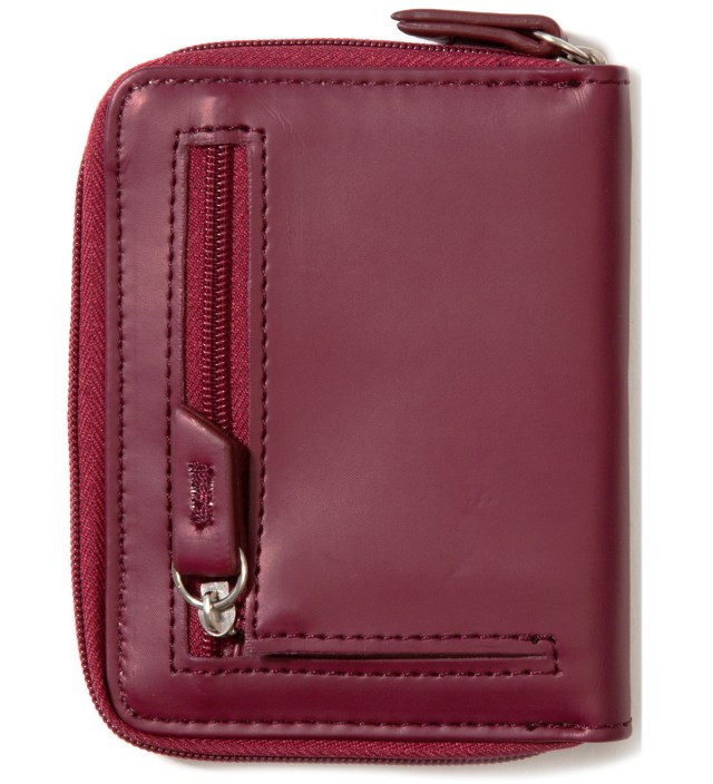Burgundy Super Solid Sideways Wallet