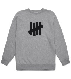Undefeated Heather Grey 5 Strike Basic Sweater Picutre