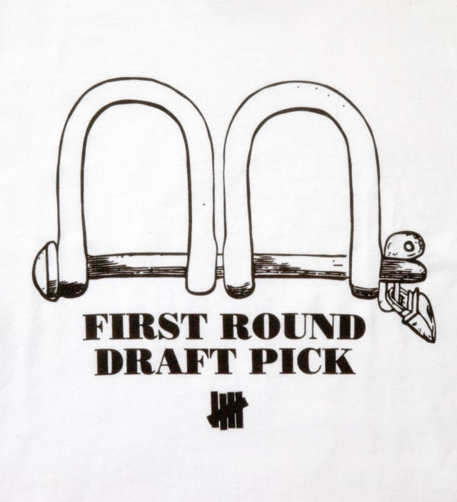 White SS First Round Pick T-Shirt