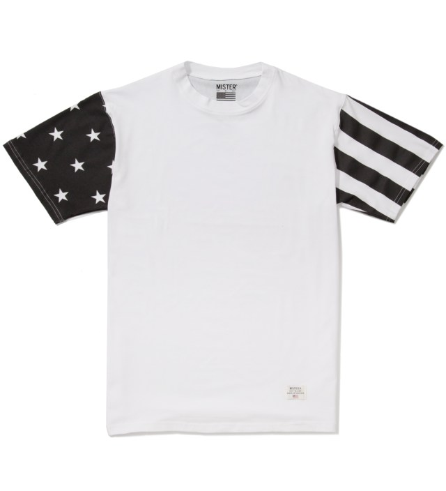 White/Black Print Mr. USA Summer Blend T-Shirt