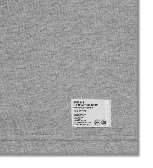 Stussy x The Heartbreakers Grey Alex Print T-Shirt