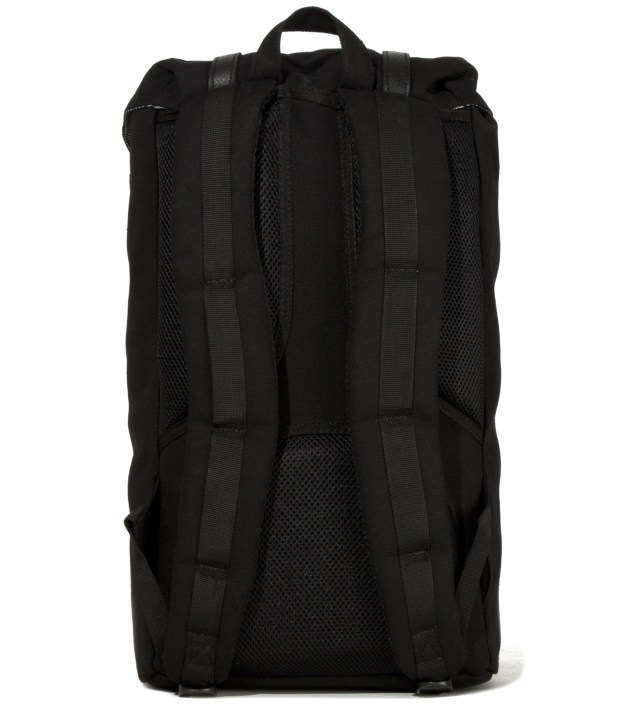 Black Little America Canvas Backpack