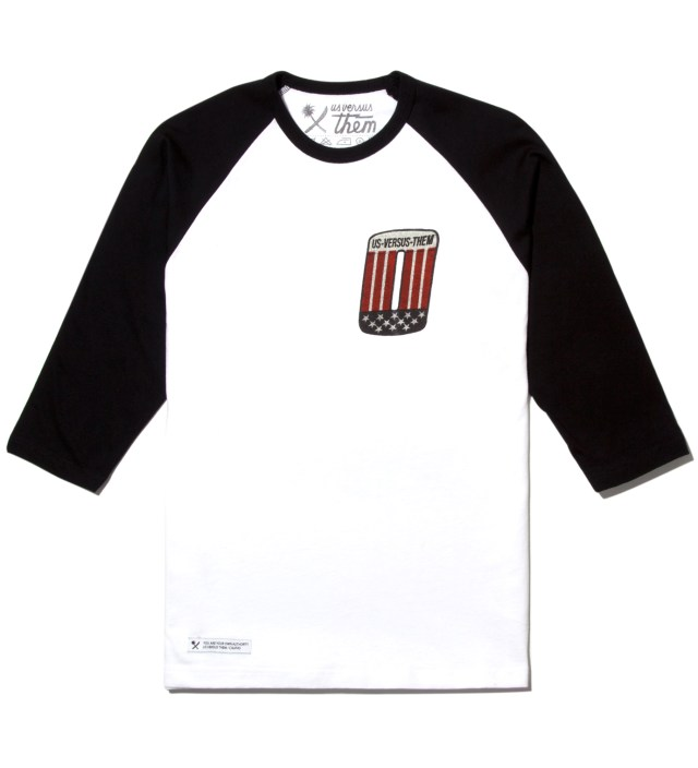Black Patched Raglan