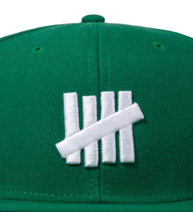 Green 5 Strike Snapback Ballcap
