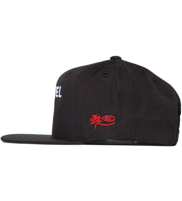 Black Channel Zero Snapback Hat