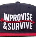 Navy Improvise Snapback Ballcap