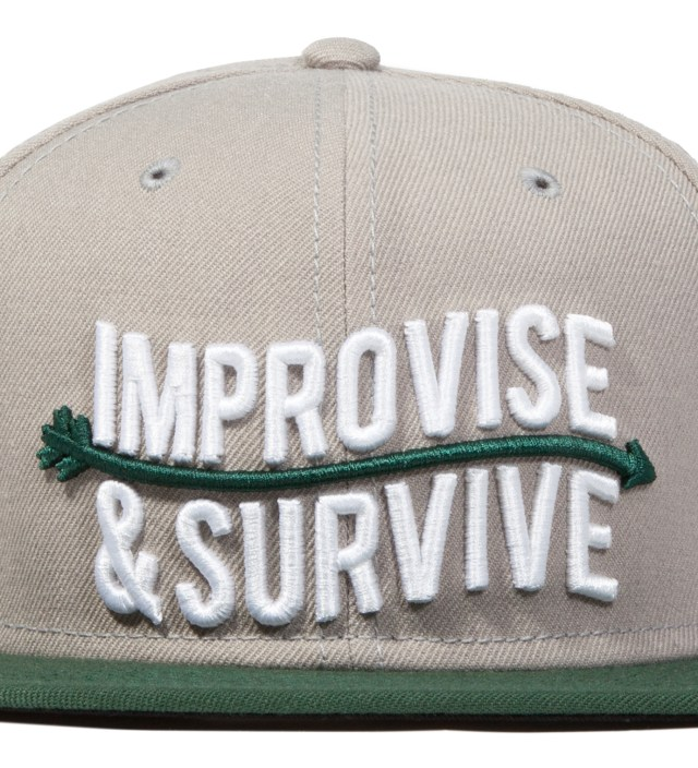 Grey Improvise Snapback Ballcap