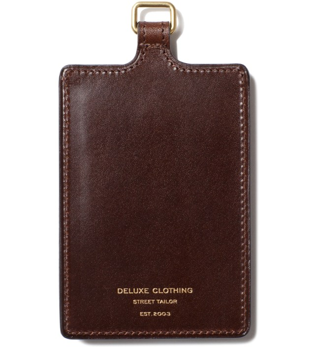 Brown Badge Card Case
