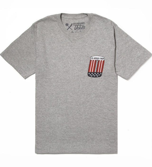 Heather Grey Patched T-Shirt
