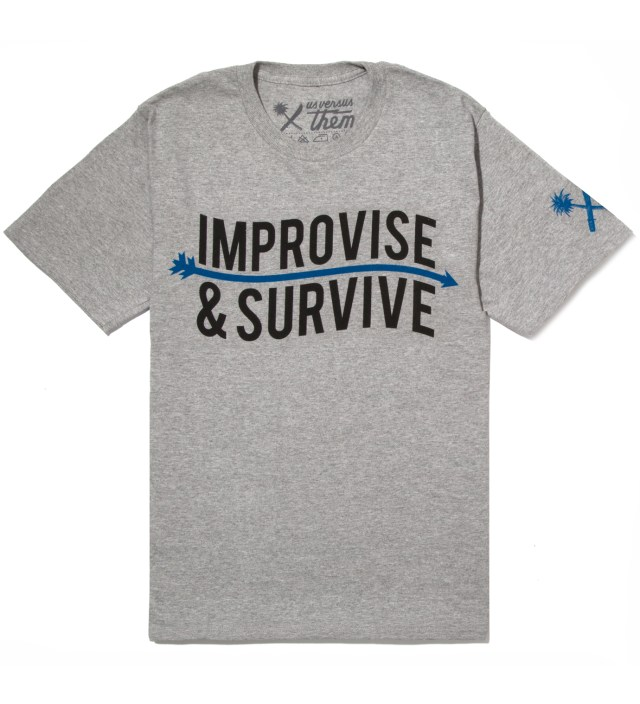 Heather Grey Improvise Arrow T-Shirt