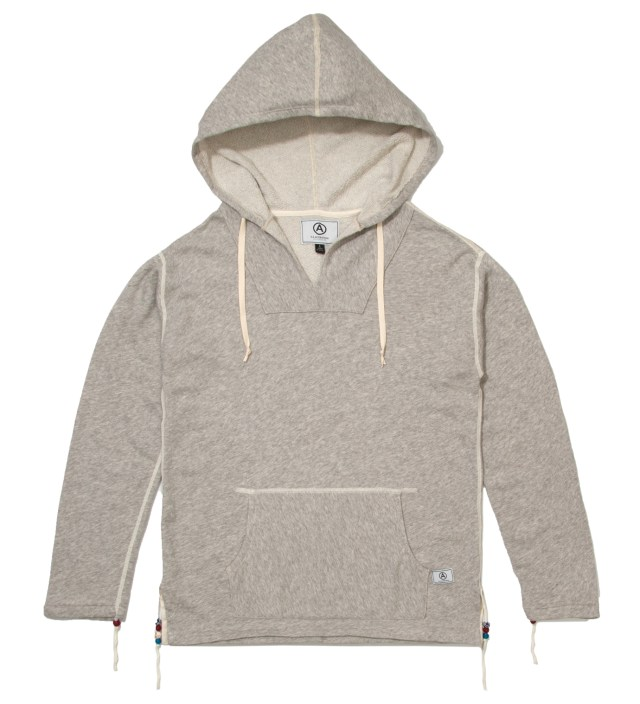Heather Grey Poncho Hoodie