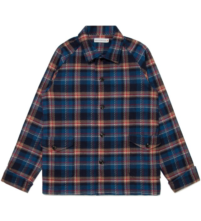 Blue Check Shirt Jacket