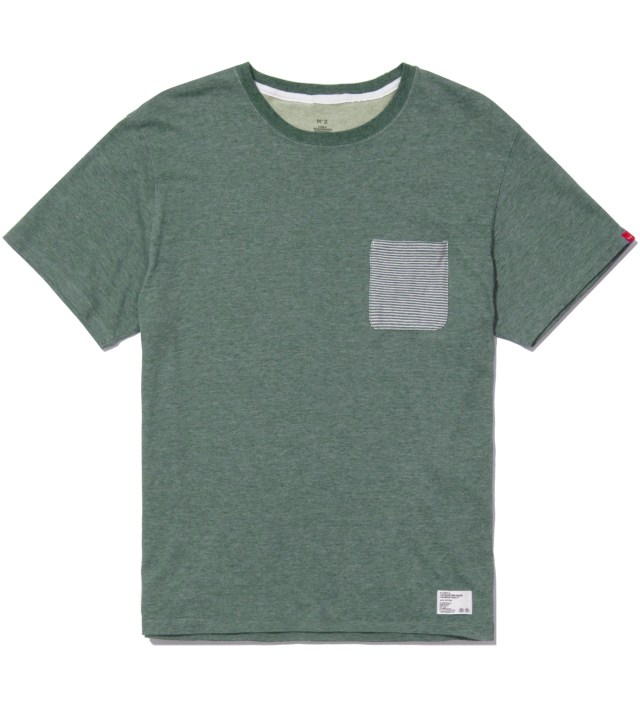 "Stussy x The Heartbreakers Green ""Lee"" Pocket T-Shirt"