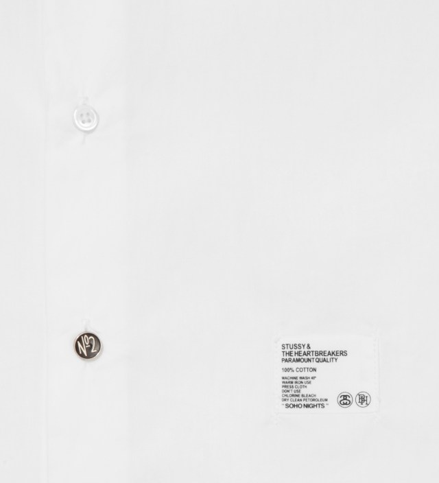 "Stussy x The Heartbreaker White Graphic ""Jean- Michel"" Shirt"