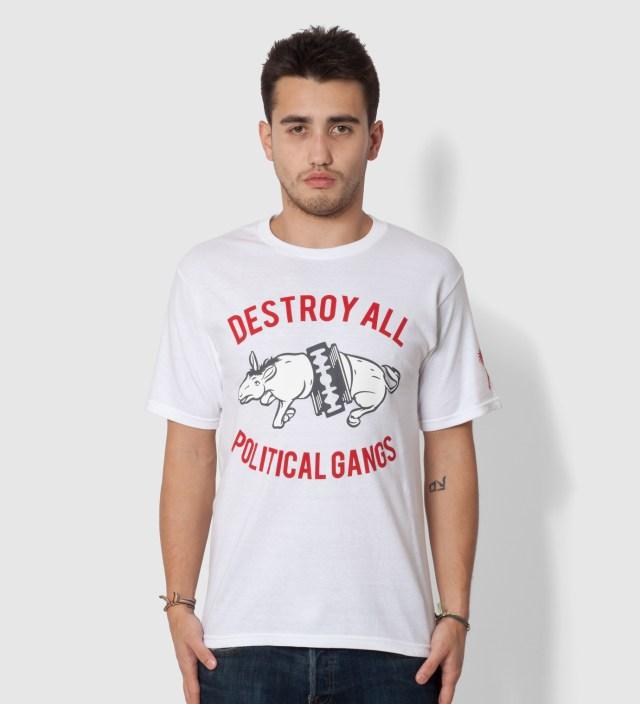 White Gangland Elephant T-Shirt