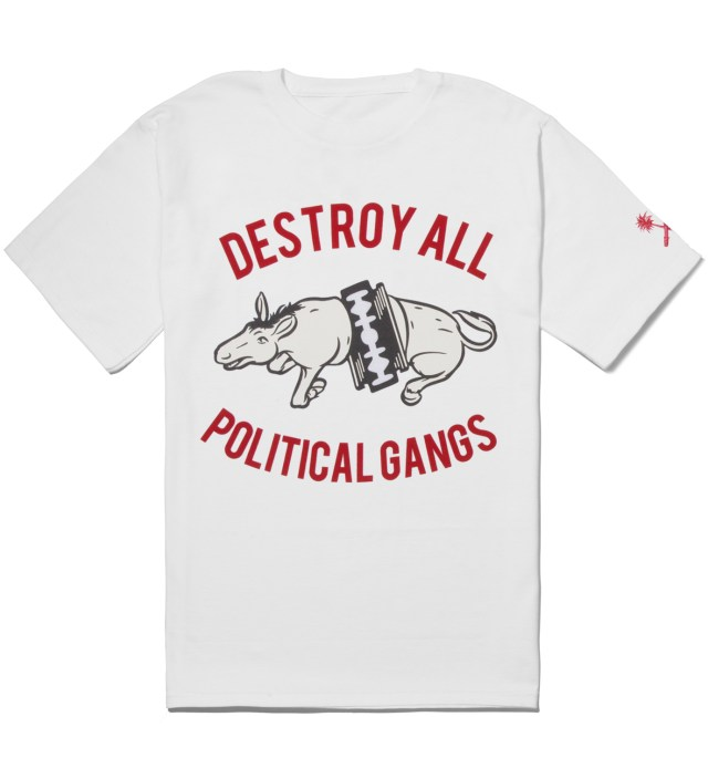White Gangland Donkey T-Shirt