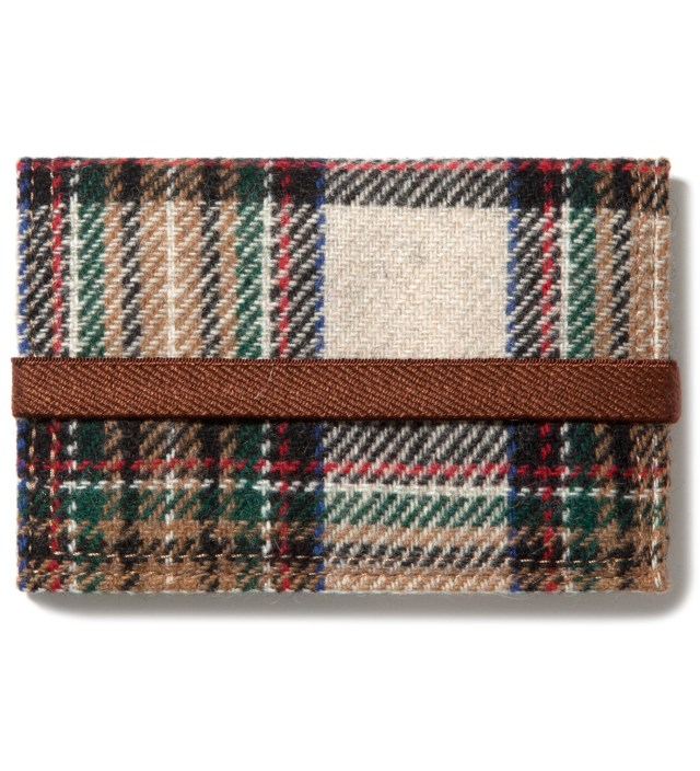 Beige/White Band Card Case