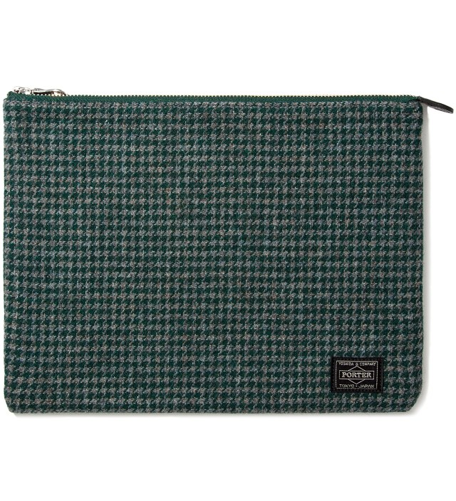 Green Porter Pouch (Houndstooth Check)
