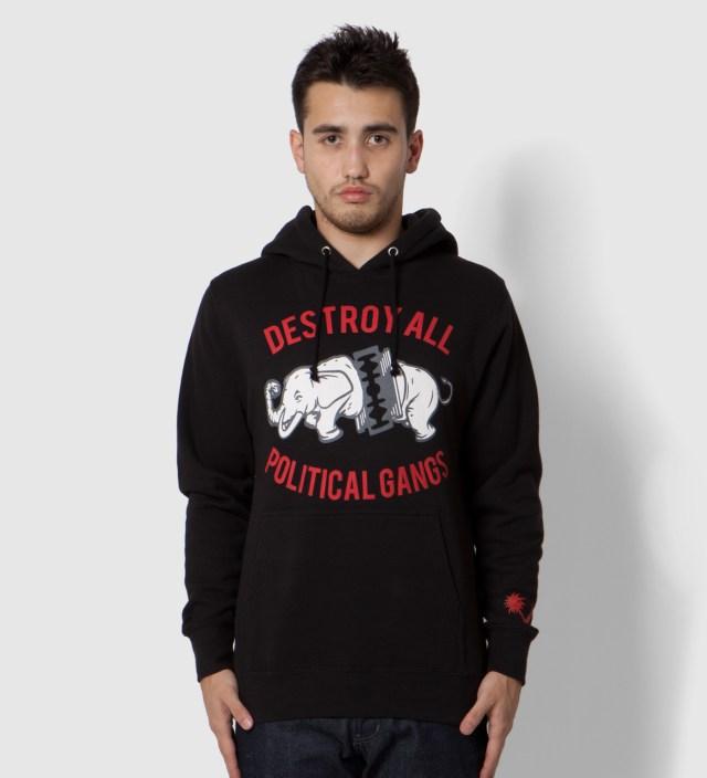 Black Gangland Elephant Hoodie