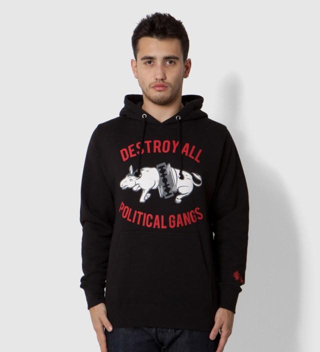 Black Gangland Donkey Hoodie