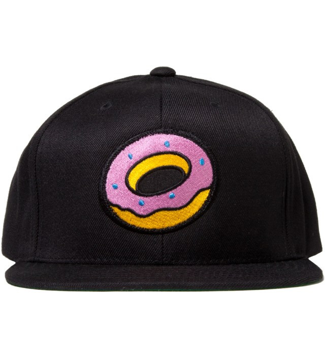 Black OF Donut Snapback Cap