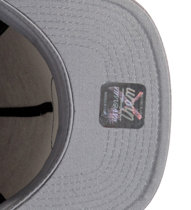Grey Branded Snapback Ballcap