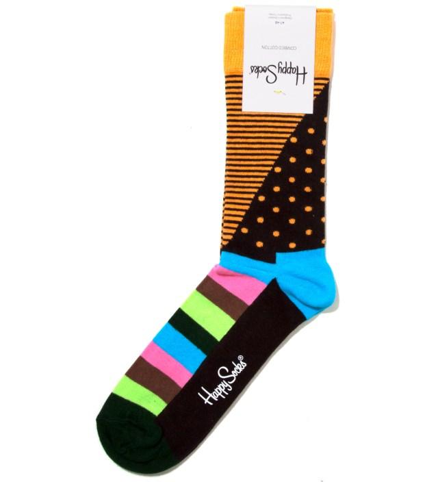 Orange Dot and Stripes Sock