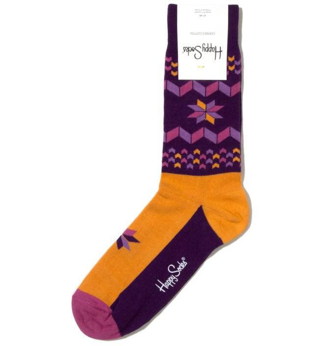 Purple Snowflake Sock