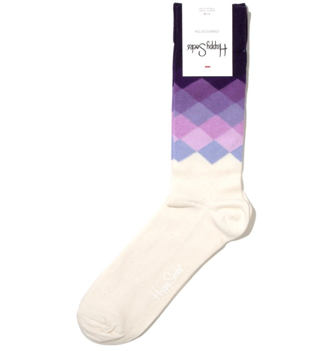 Purple Faded Diamond Sock