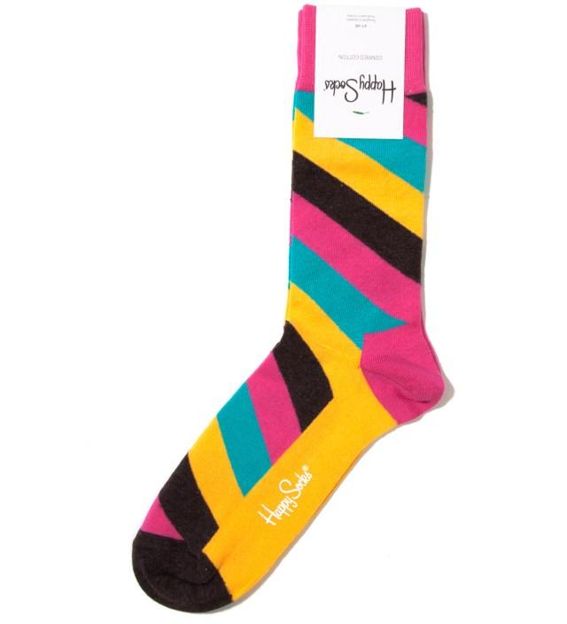 Pink/Yellow Polka Sock