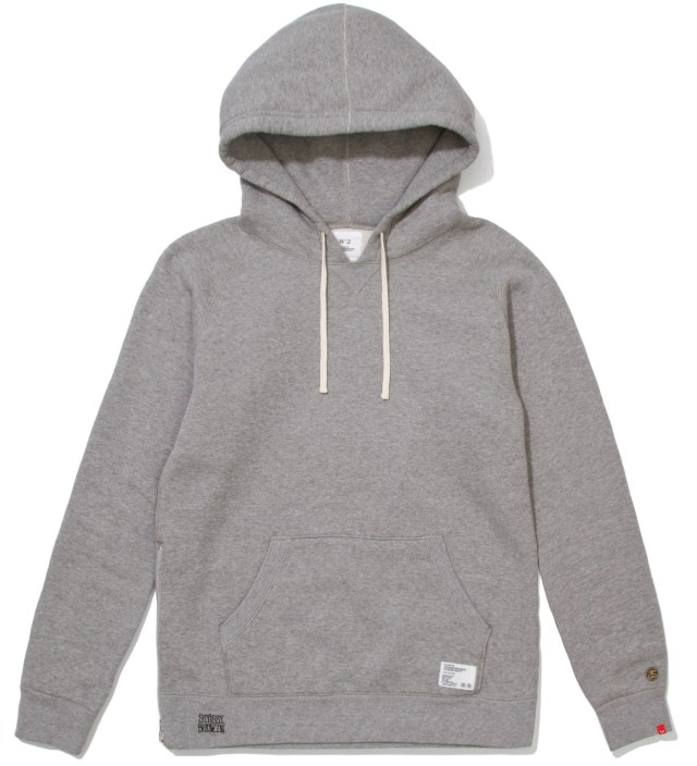 "Stussy x The Heartbreakers Grey ""Russell"" Pullover Parka Hoodie"