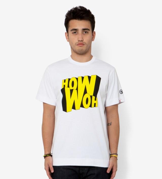 White How Woh Print T-Shirt