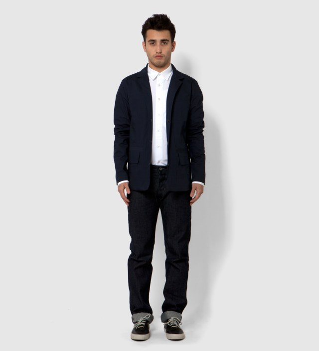 Navy Laser Cut Seam Welded Fell Jacket