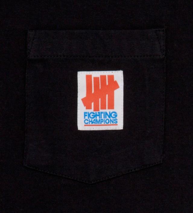 Black Fighting Pocket Long Sleeve T-Shirt
