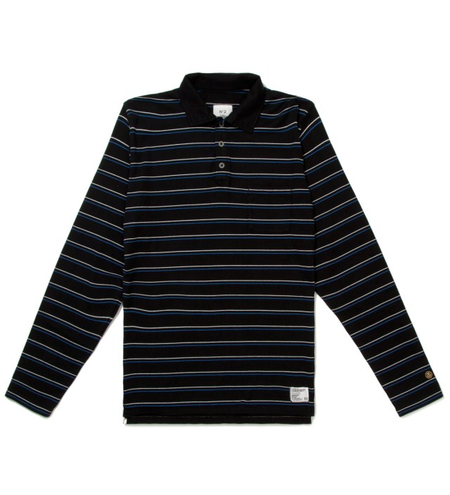 "Stussy x The Heartbreakers Blue L/S ""Chuck"" Polo"