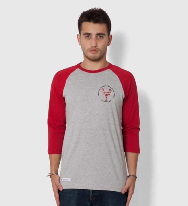 Red Branded Raglan