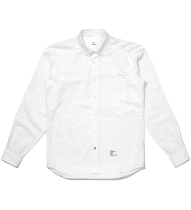 """Stussy x The Heartbreaker White B.D. """"Francesco"""" Shirt"""