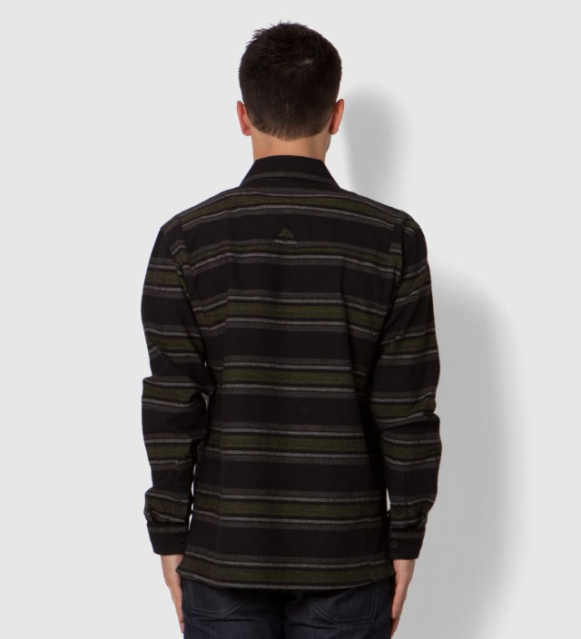 Black Staples Striped Long Sleeve Woven Shirt