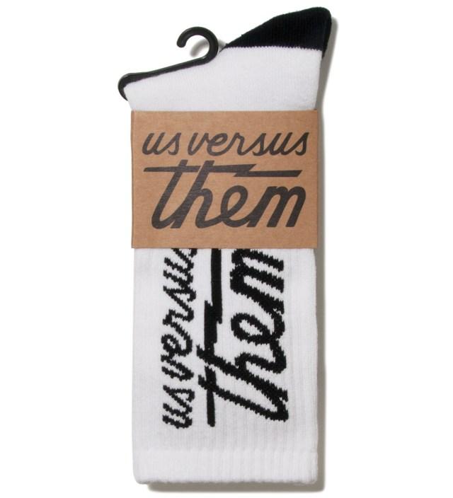 White Magnum Crew Socks