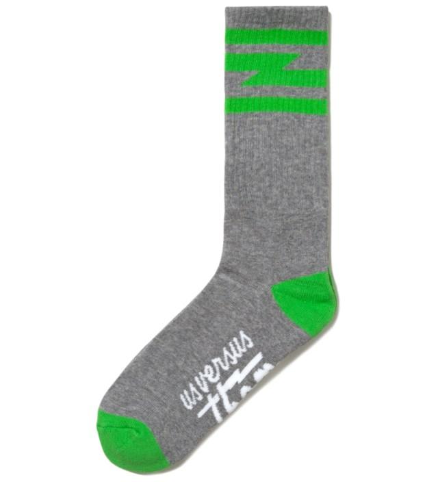 Heather Grey Del Mar Crew Socks