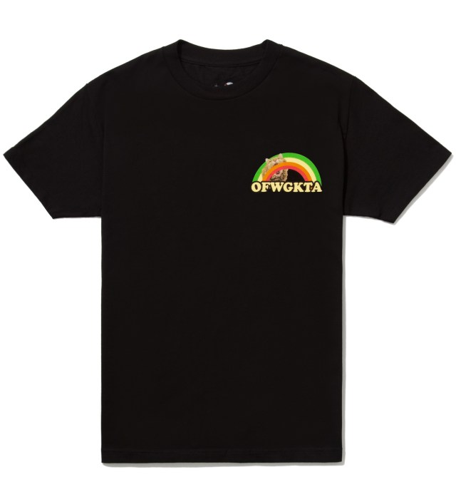 Black Rainbow Cat T-Shirt