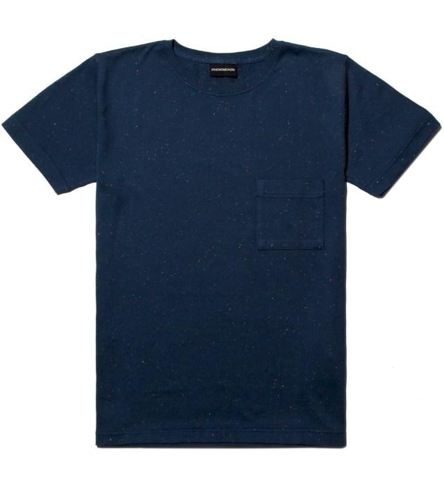 Navy Mix Cotton Pocket T-Shirt