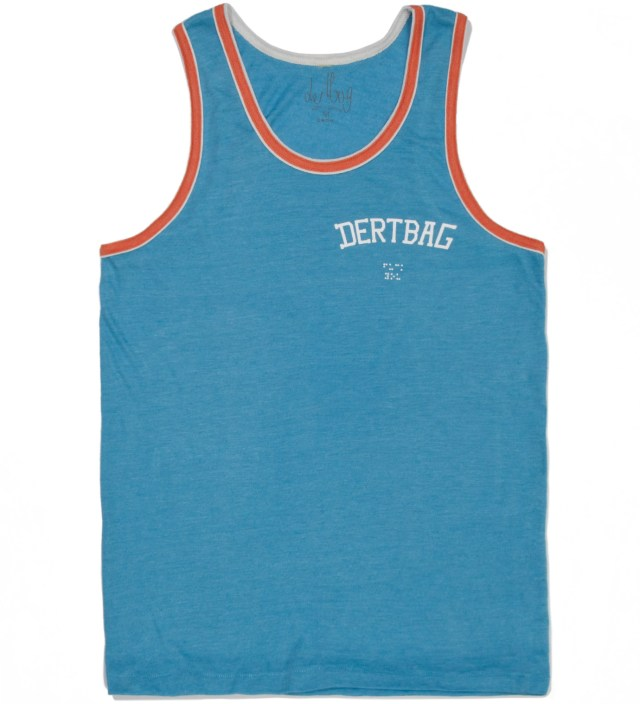Turqoise/ Orange College Braille Tank Top