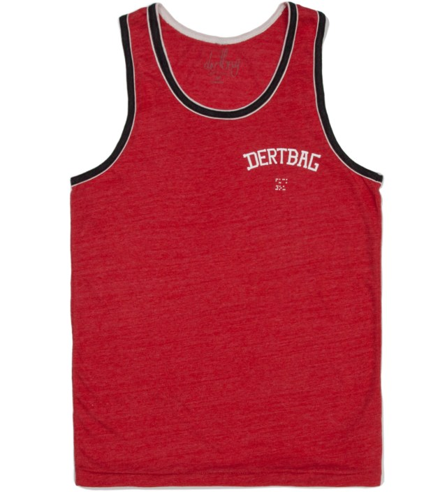 Red/ Black College Braille Tank Top