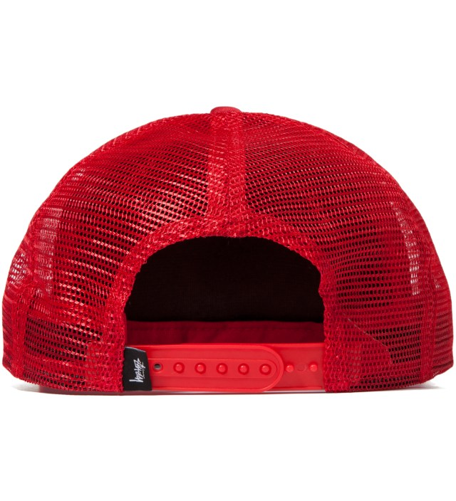 Red No 4 Mesh Snapback Ballcap