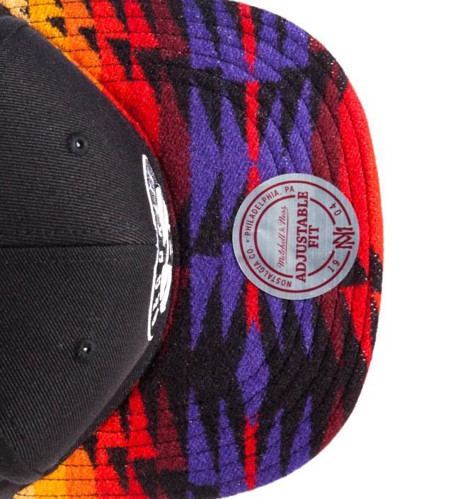 Brooklyn Nets Red Navajo Strap-Back Cap
