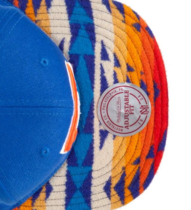 Denver Broncos Blue Navajo Strap-Back Cap
