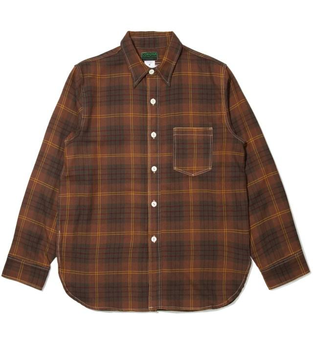 Brown Corona Shirt Navy 1 Pocket