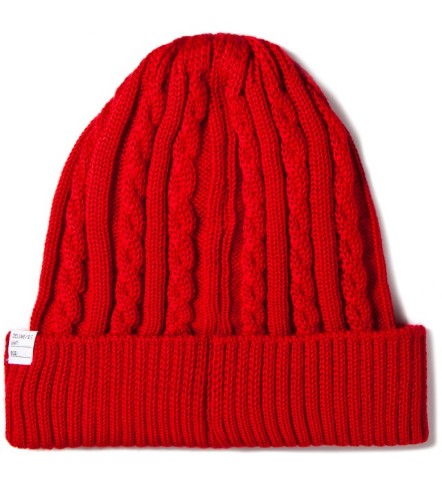Red Feather Beanie